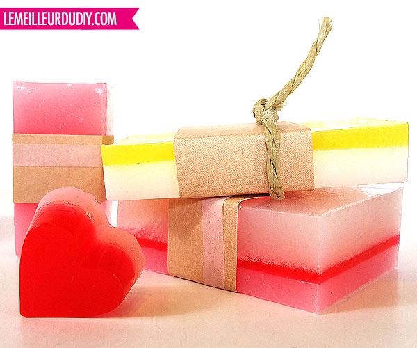 DIY savon gamme rose