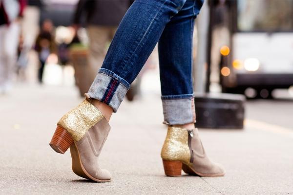 diy chaussures a paillettes