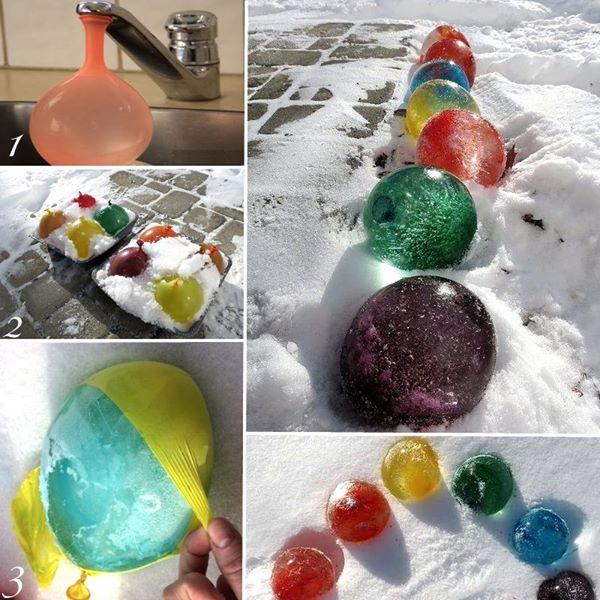 DIY ballon glace neige
