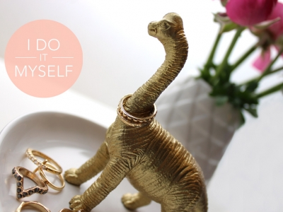 DIY Dinosaure porte bagues
