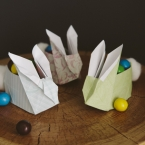 DIY Lapin de papier origami