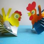DIY Poule et coq en 3D