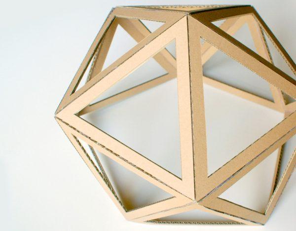 diy comment fabriquer un abat jour en carton le meilleur du diy. Black Bedroom Furniture Sets. Home Design Ideas