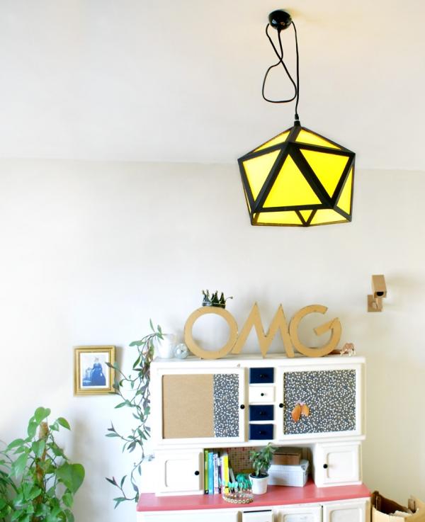 diy comment fabriquer un abat jour en carton le meilleur. Black Bedroom Furniture Sets. Home Design Ideas