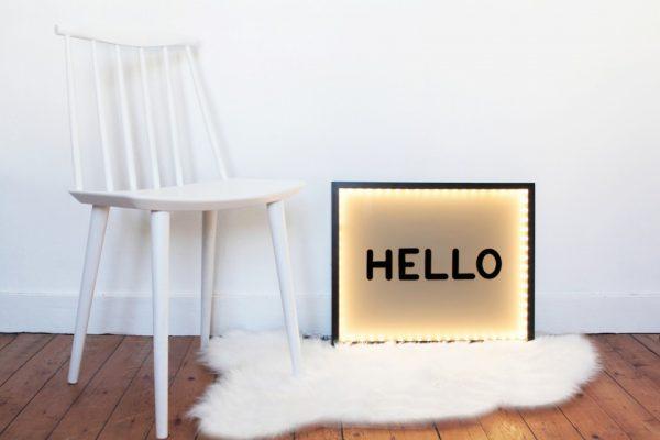 diy splendide cadre de lettres lumineuses le meilleur du diy. Black Bedroom Furniture Sets. Home Design Ideas