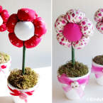 DIY Pot de fleurs en tissu