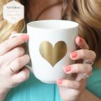 DIY mug customisé avec un coeur