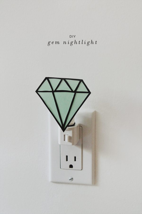 DIY veilleuse diamant