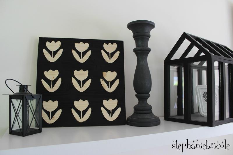 Tableau fleurs noires
