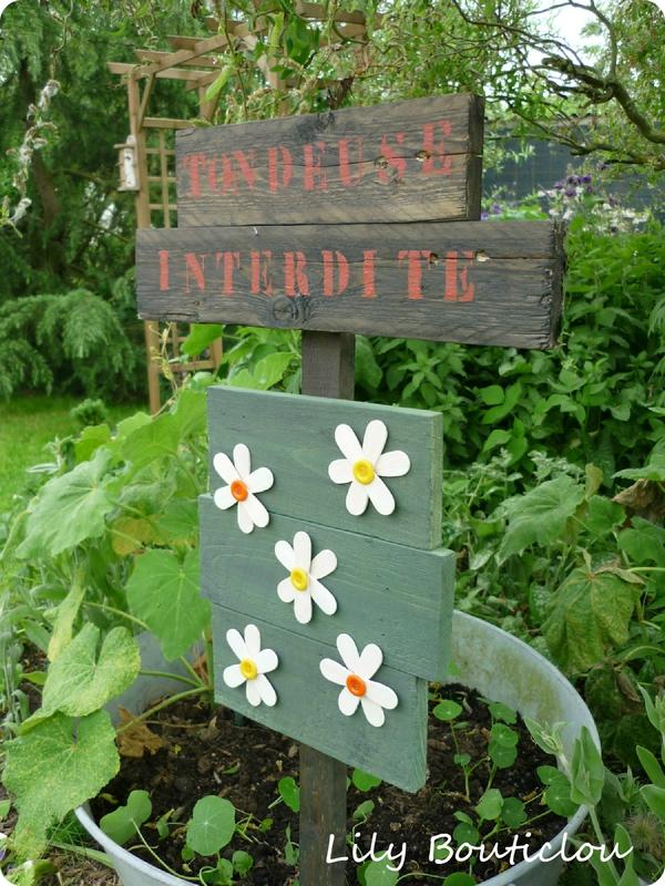 pancarte fleurie