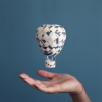 DIY montgolfiere en papier peint
