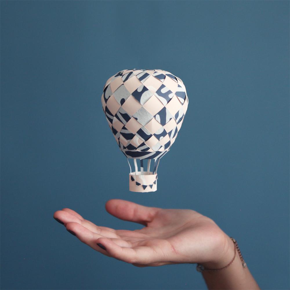 Diy et si on partait en montgolfi re le meilleur du diy - Montgolfiere en papier ...