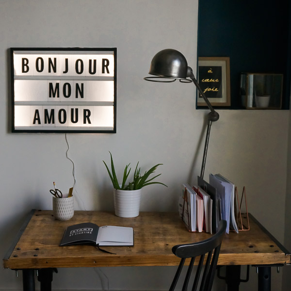 diy tableau lettres lumineuses le meilleur du diy. Black Bedroom Furniture Sets. Home Design Ideas