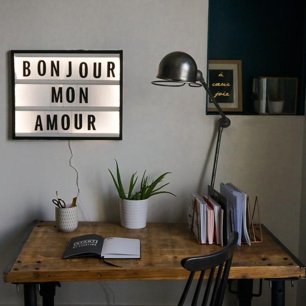 diy tableau lettres lumineuses le meilleur du diy. Black Bedroom Furniture Sets. Home Design Ideas