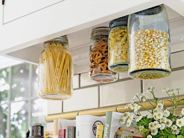 DIY Super rangement pour la cuisine avec des bocaux
