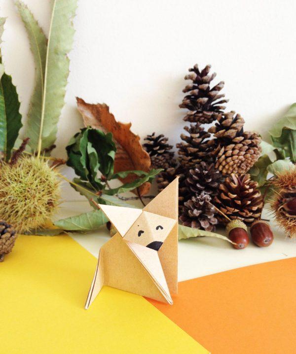 diy renard en origami super mignon le meilleur du diy. Black Bedroom Furniture Sets. Home Design Ideas