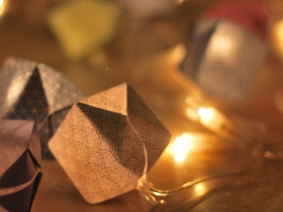 DIY Guirlande origami