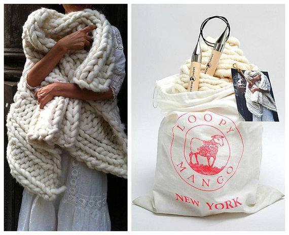 tricoter un tapis en laine