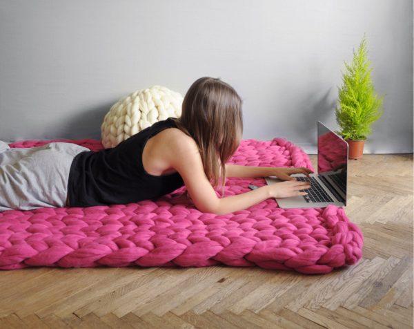 DIY Tapis en laine géante