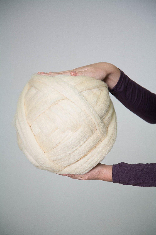 Pelote de laine super chunky