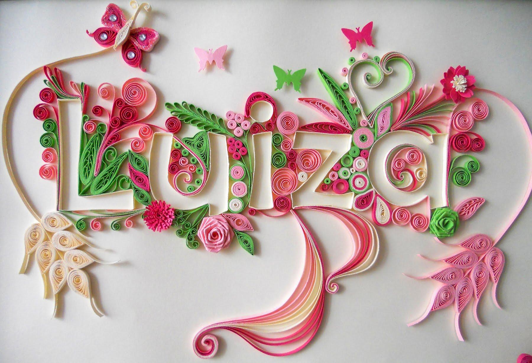 fleurs en papier quilling