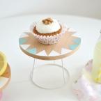 DIY Présentoir à gâteau avec un abat jour
