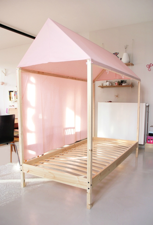 diy lit cabane pour enfant ou pour les grands le. Black Bedroom Furniture Sets. Home Design Ideas