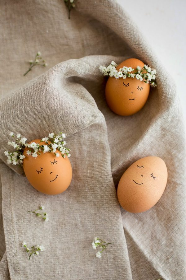 DIY Oeufs de Pâques romantiques