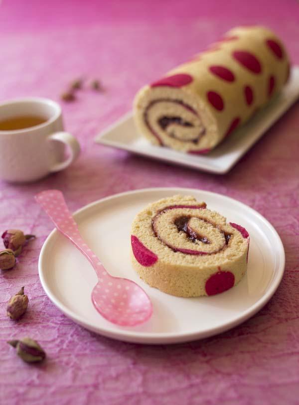 DIY Gâteau roulé à points