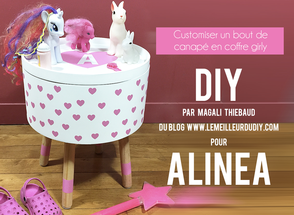 Diy Customiser Un Bout De Canapé En Coffre Girly Avec Alinea Le
