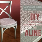 DIY Chaise customisée par Magali THIEBAUD