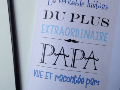 DIY Carnet fête des pères