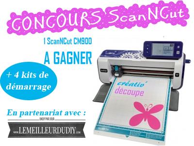 Gagnez une machine de découpe ScanNCut Jeu concours