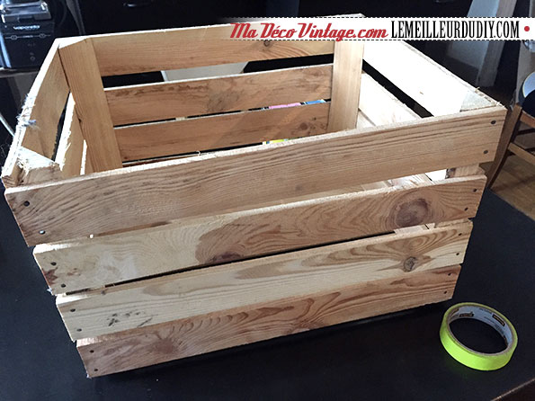 diy caisse en bois pour ranger les jouets le meilleur. Black Bedroom Furniture Sets. Home Design Ideas