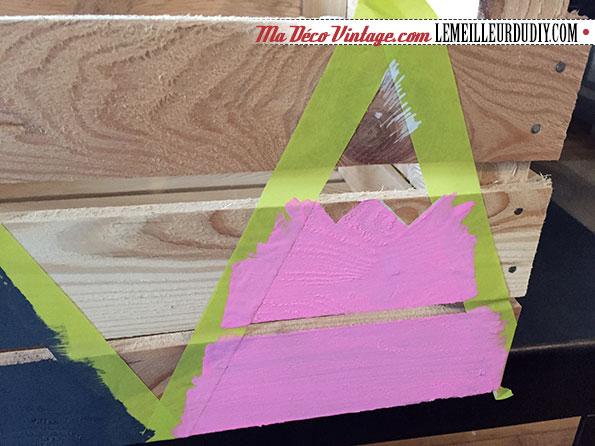 DIY caisse en bois vintage étape 3