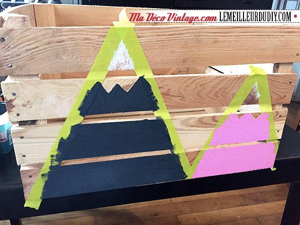 DIY caisse en bois vintage étape 4