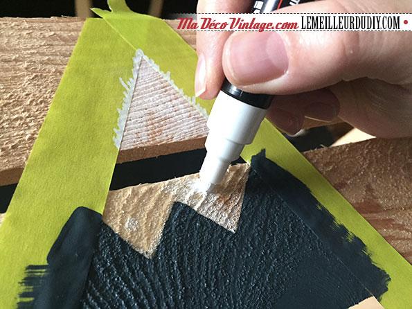 DIY caisse en bois vintage étape 5