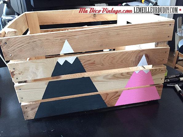 DIY caisse en bois vintage étape 6