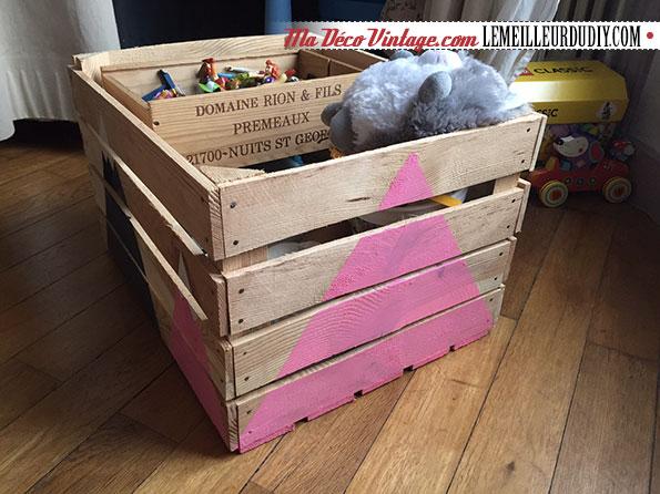 diy caisse en bois pour ranger les jouets le meilleur du diy. Black Bedroom Furniture Sets. Home Design Ideas