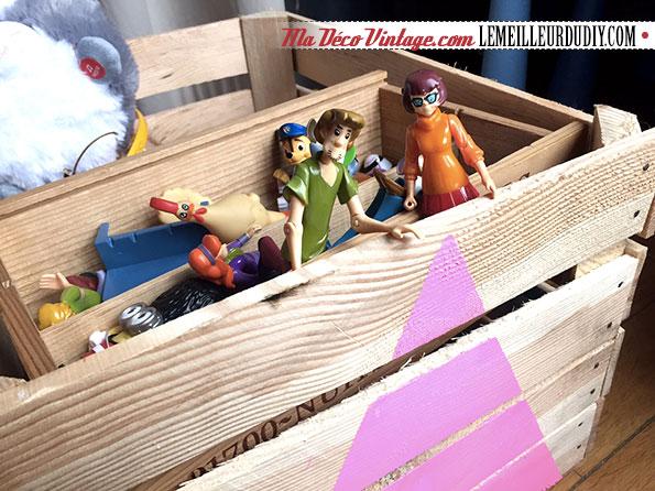 DIY déco avec des caisses en bois