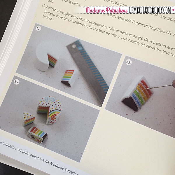 Rainbow cake en pâte polymère