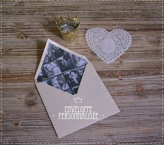 DIY enveloppe photo saint valentin