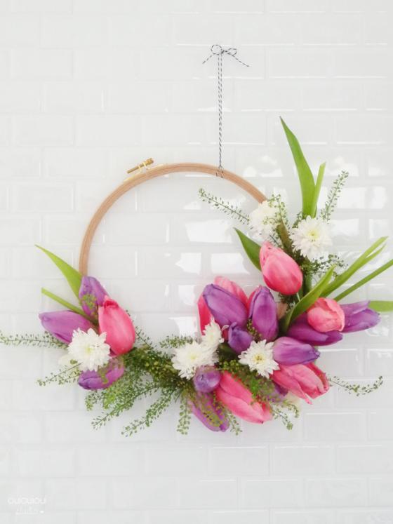DIY Couronne de fleurs à réaliser soi même