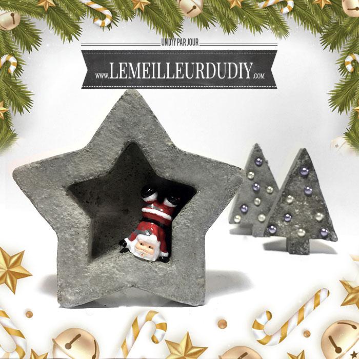 DIY Décoration de Noël en béton décoratif fait maison