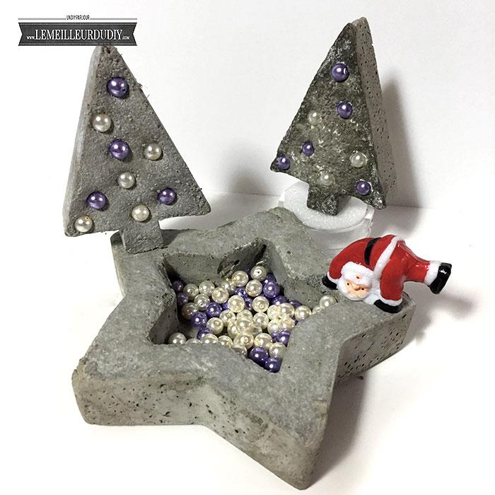 DIY Décoration de Noël en béton fait maison