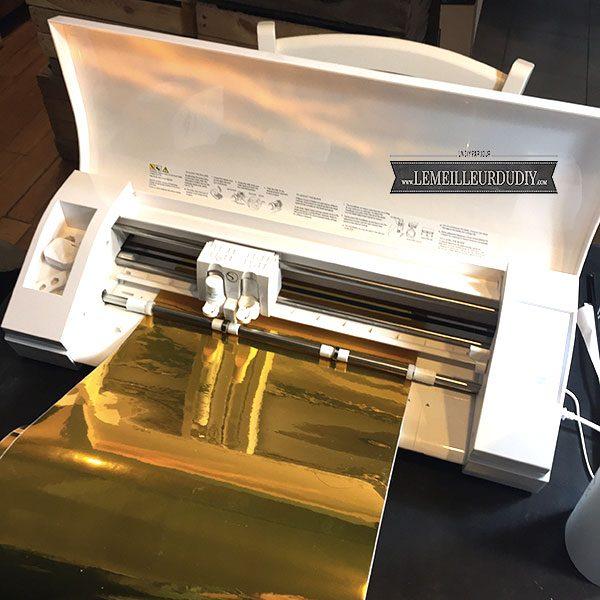 machine de découpe silhouette caméo 3 pour faire du DIY