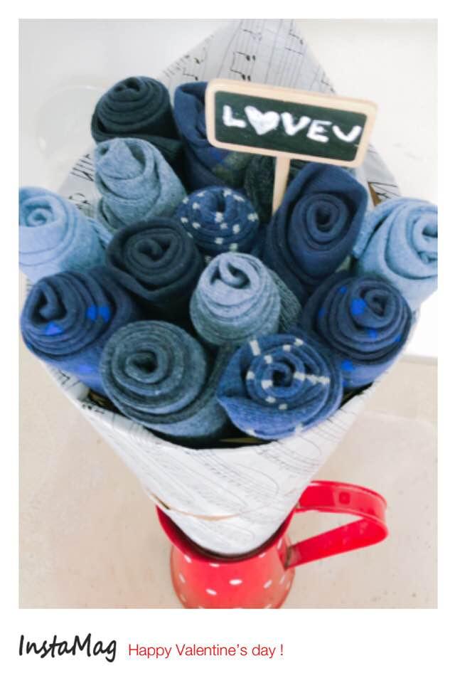 Bouquet de chaussettes un vrai cadeau original