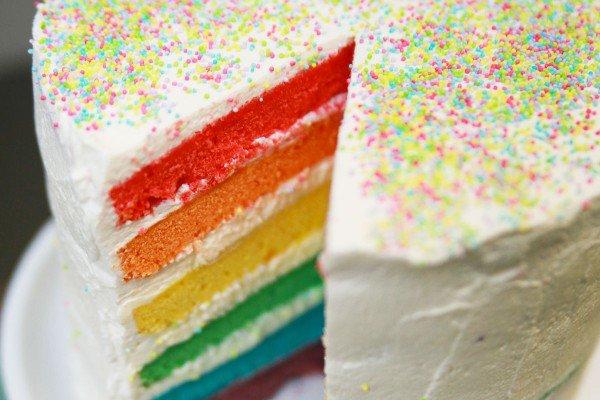 DIY recette du rainbow cake