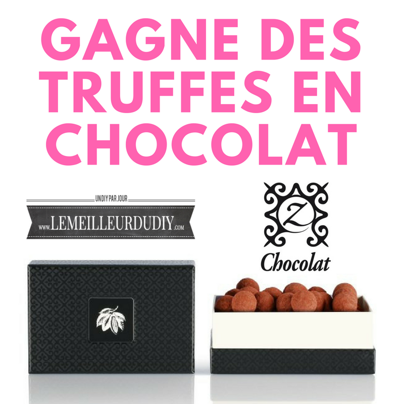 Jeu concours instagram gagne des truffes en chocolat zchocolat made in france