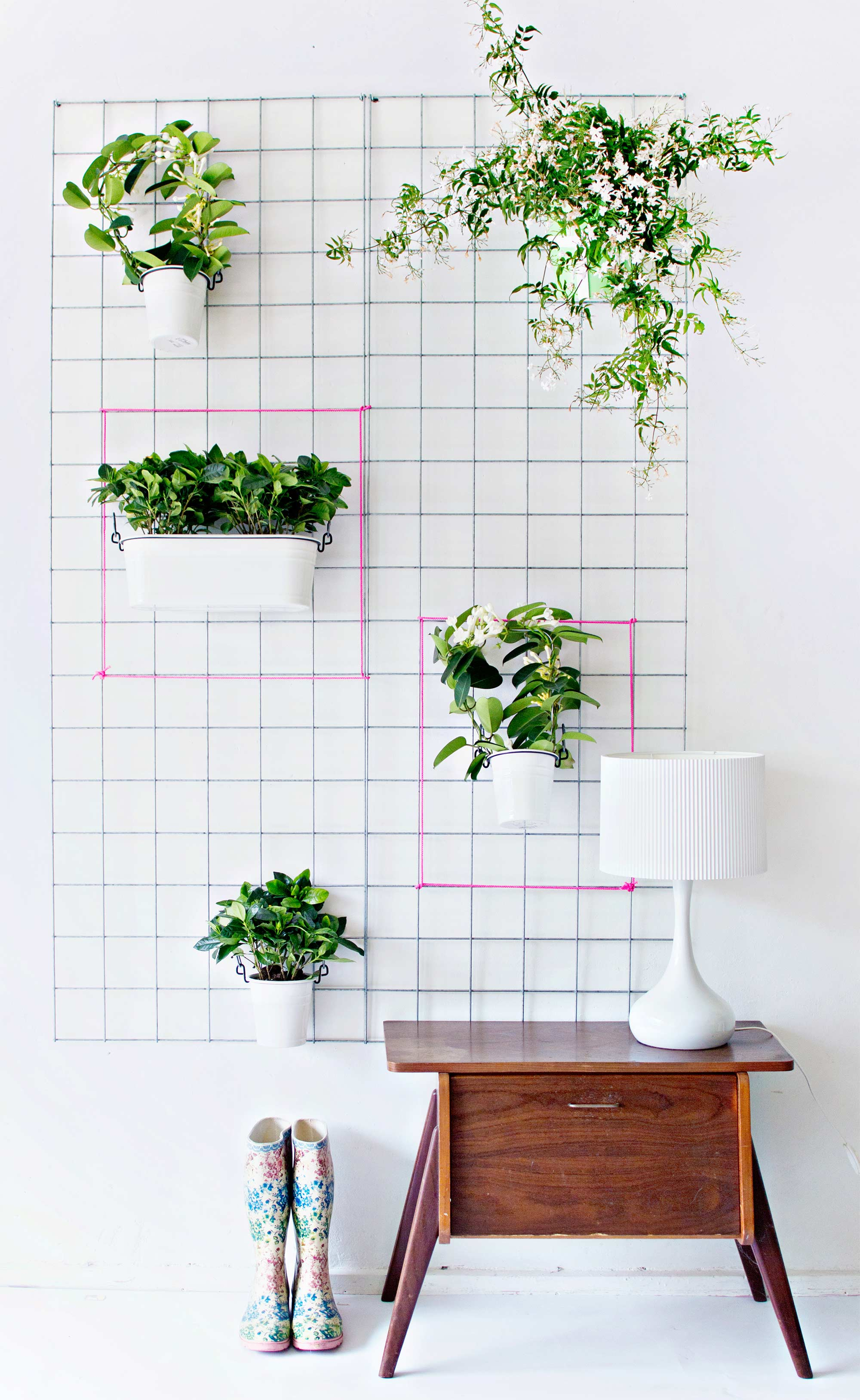 Joli jardin suspendu d'intérieur à faire soi même do it yourself